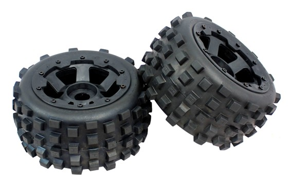 1/5 hpi baja 5B badland wheels and tires 2pcs/pair -rear- 85038