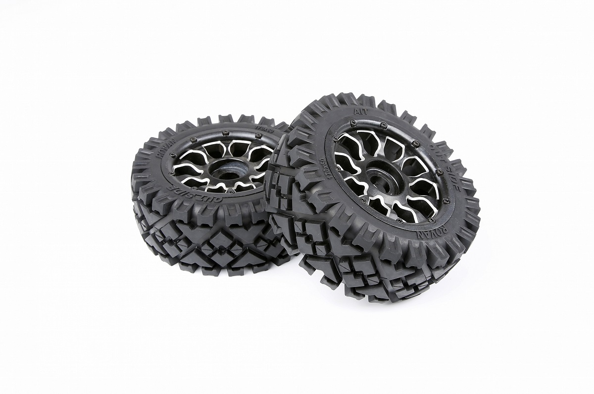 1/5 hpi baja 5B front all terrain tires with metal wheel hub - front - 2pcs/pair - 951192