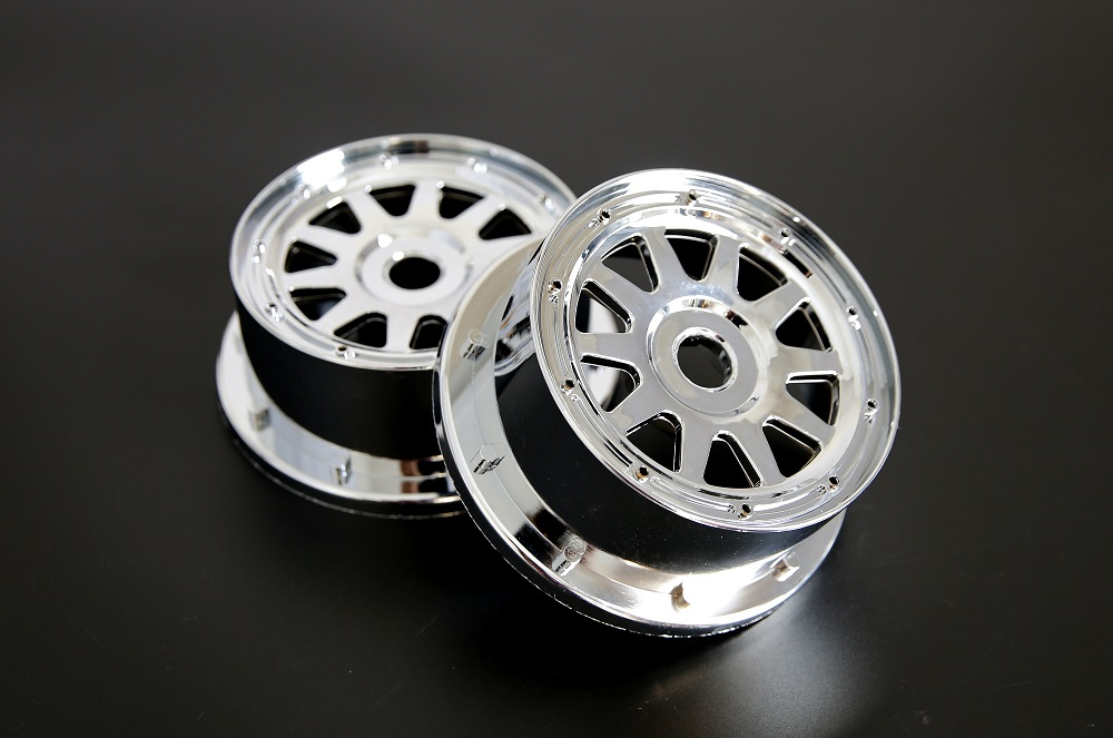 1/5 hpi baja 5B 5T 5SC Chrome wheel hubs set - Front (Gen.3)951772 for hpi km rovan baja 5B ss 5T 5SC