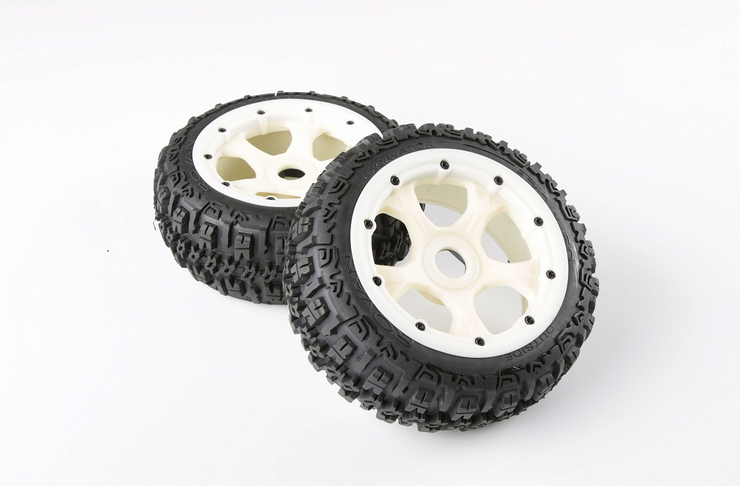 1/5 hpi baja 5B Badland Nylon wheels & tires Version III - front - 2pcs/pair - 95194