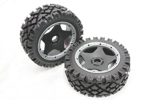 1/5 scale baja 5B All Terrain Tire comleted set with star rim - Front - 2pcs/set