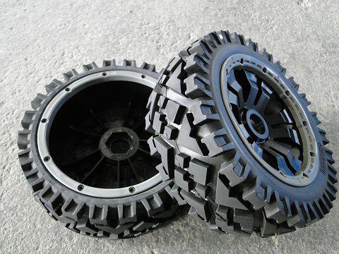 1/5 scale baja 5B All Terrain Tire comleted set with poison rim - Front - 2pcs/set