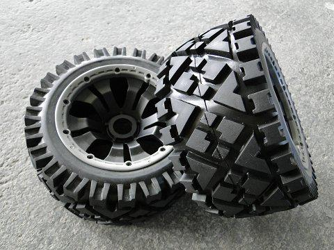 1/5 scale baja 5B All Terrain Tire comleted set with poison rim - Rear - 2pcs/set