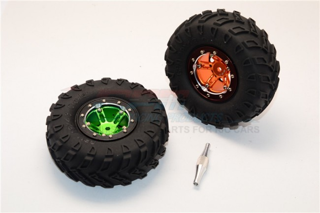 "1/10 AXIAL SCX10 ALLOY 5 POLES SIMULATION WHEELS WITH 1.9"" TIRE & HEX TOOL - 1Pair (CUSTOM COLORS) AW1905STYM"