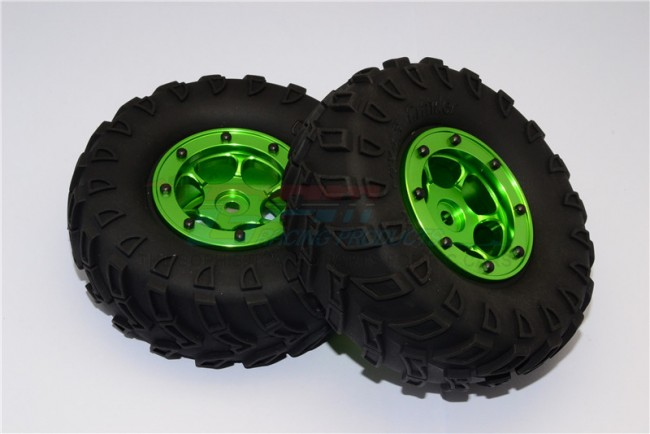 "1/10 AXIAL SCX10 II 90046 90047 ALLOY 6 POLES WHEELS WITH 1.9"" TIRE & FOAM INSERT - 1PAIR - AW1906F/R45"