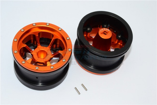 1/10 AXIAL SMT10 ALLOY 6 POLES BEADLOCK WITH 22MM HUB & NYLON WHEELS FRAME FOR 2.2' TIRE - 1PAIR AW2206P/22