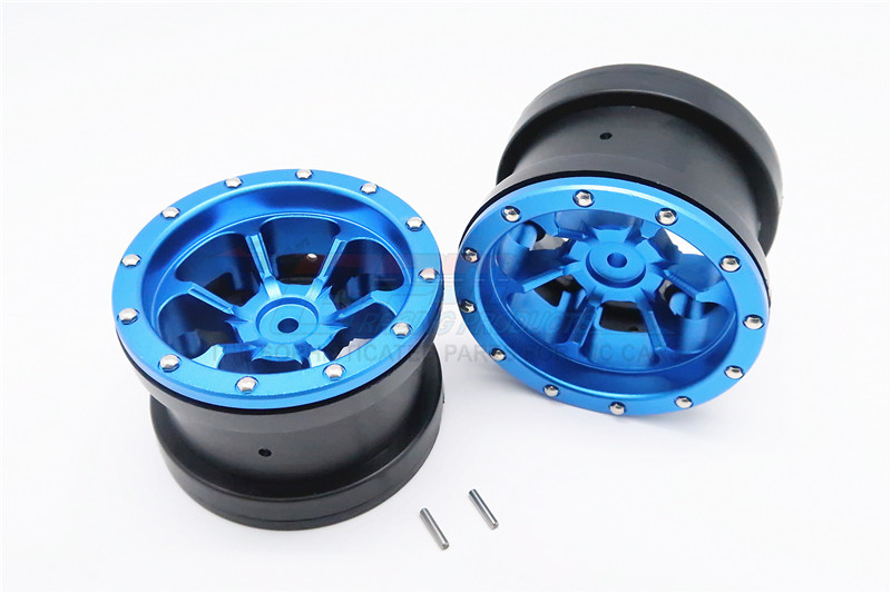 1/10 AXIAL SMT10 ALLOY 6 POLES BEADLOCK & NYLON WHEELS FRAME FOR 2.2' TIRE - 1PAIR AW2206P