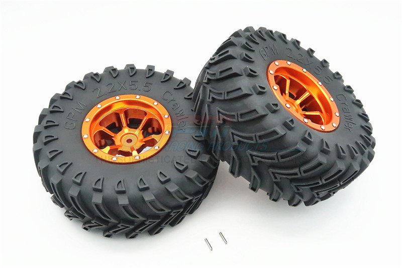 1/10 AXIAL SMT10 ALLOY 6 POLES BEADLOCK & NYLON WHEELS FRAME WITH 2.2' TIRE & FOAM INSERT - 1PAIR AW2206P45