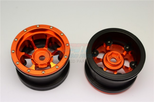 1/10 AXIAL SMT10 ALLOY 6 POLES BEADLOCK & NYLON WHEELS FRAME FOR 2.2' TIRE (USE WITH 12MM HEX) - PAIR - AW2206PH