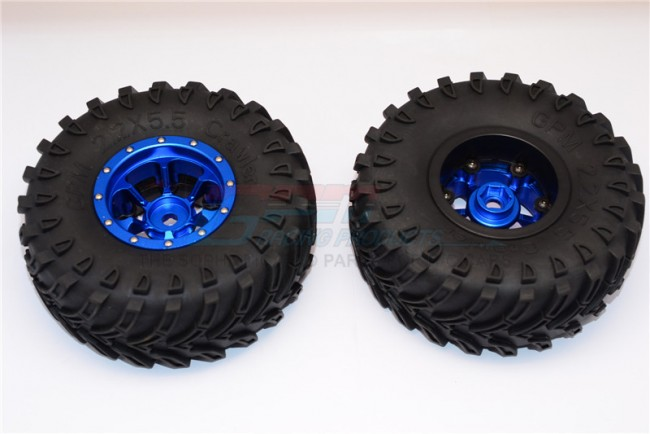 1/10 AXIAL SMT10 ALLOY 6 POLES BEADLOCK & NYLON WHEELS FRAME WITH 2.2' TIRE & FOAM INSERT (USE WITH 12MM HEX) - pair AW2206PH45