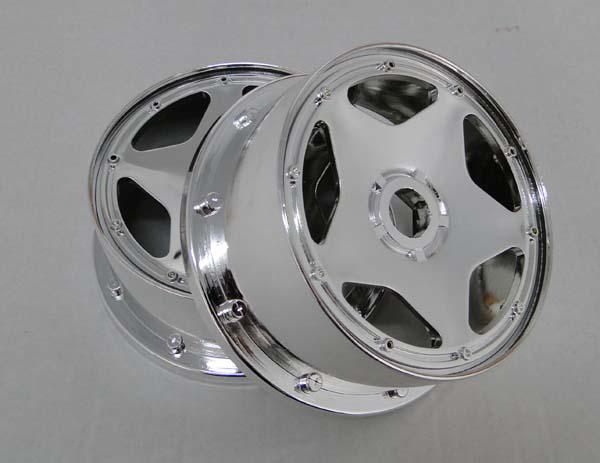 1/5 scale baja 5B Chrome rim (front) - 2pcs/set