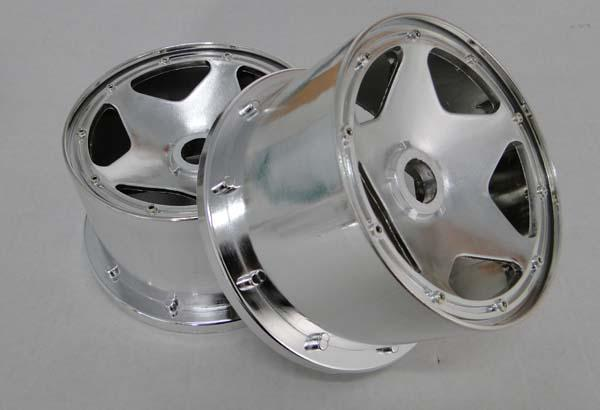 1/5 scale baja 5B Chrome rim (Rear) - 2pcs/set