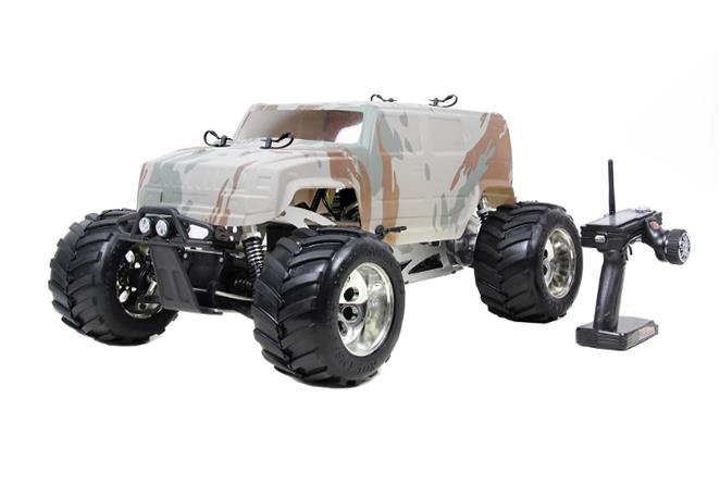 1/5 Scale 30.5cc 4WD gas powered Big monster RC Hummer Truck (with NGK and walbro 668 carb.) RTR - BM305BE (2017)