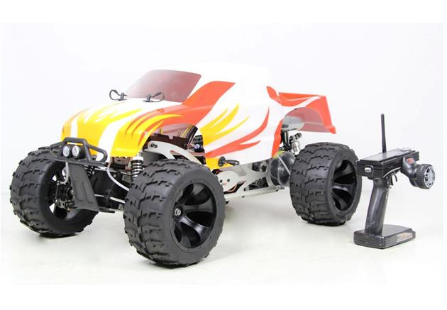 1/5 Scale 30.5CC 4WD gas powered Big monster with 4 wheel hydraulic disc brake RC Truck RTR - BM305UV (2017)