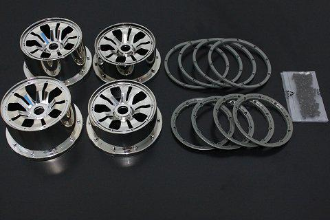 1/5 scale baja 5b Chrome Poison Rim set - Front & Rear 4PCS/SET