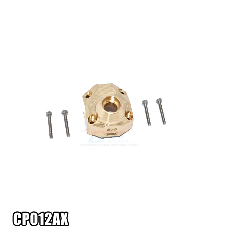 BRASS FRONT/REAR GEARBOX COVER CP012AX FOR 1/10 AXIAL CAPRA