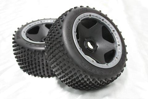 1/5 scale Baja 5B Dirt Tire completed set (Rear) 2pcs/pair