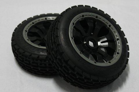 1/5 scale Baja 5B Dirt Tire completed set with poison rim (Front) 2pcs/pair