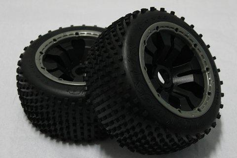 1/5 scale Baja 5B Dirt Tire completed set with poison rim (Rear) 2pcs/pair