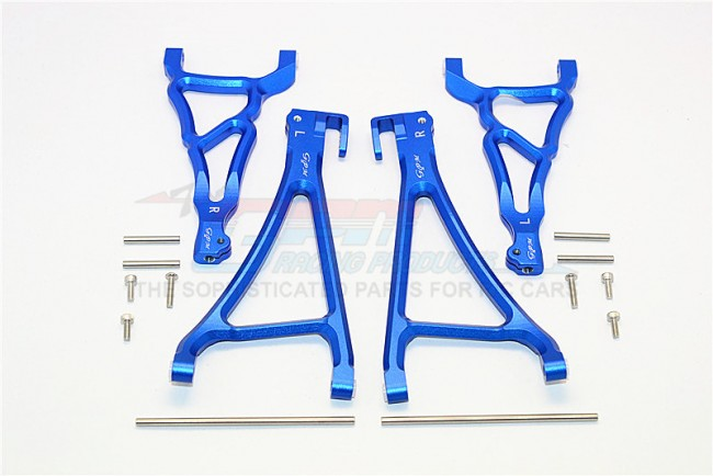 TRAXXAS E-REVO 56087-1 / REVO / SUMMIT ALLOY FRONT UPPER & LOWER SUSPENSION ARM -SET (FOR E-REVO 560871, REVO, SUMMIT) - ER5455