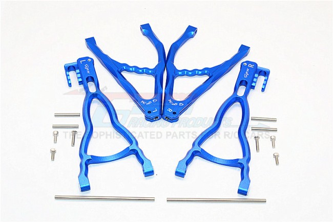 TRAXXAS E-REVO 56087-1 / REVO / SUMMIT ALLOY REAR UPPER & LOWER SUSPENSION ARM - SET (FOR E-REVO 560871, REVO, SUMMIT) - ER5657