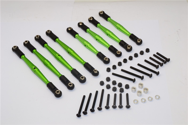 GMADE KOMODO 1/10 RC CRAWLER ALLOY 4MM ANTI-THREAD UPPER+LOWER LINK PARTS - 8PCS SET KOM1605