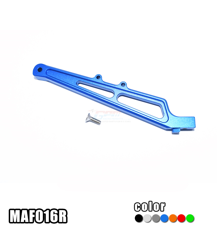 ALLOY REAR CHASSIS BRACE MAF016R for ARRMA 1/7 INFRACTION 6S BLX ALL-ROAD ARA109001, 1/7 LIMITLESS ALL-ROAD SPEED BASH