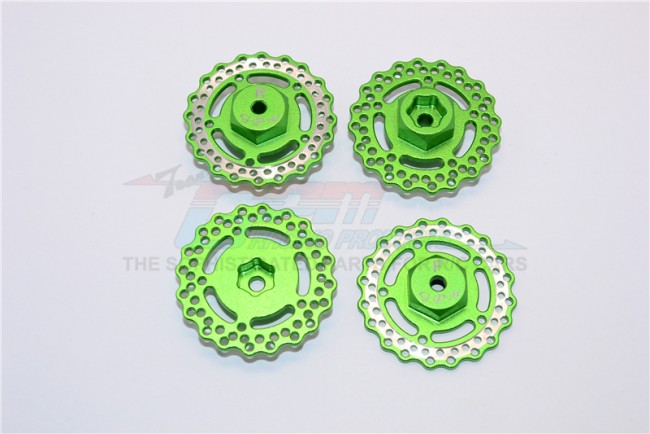 1/18 AXIAL YETI JR AX90052 ALUMINIUM ALLOY FRONT AND REAR WHEEL HEX WITH BRAKE DISK-2PCS - MYT010AFR/D
