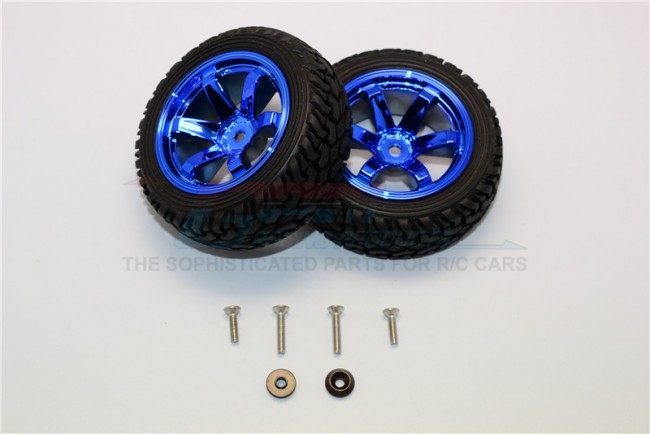 1/18 AXIAL YETI JR AX90052 ALUMINIUM ALLOY 6 POLES WHEELS TIRE – 2PCS SET MYT88906/2