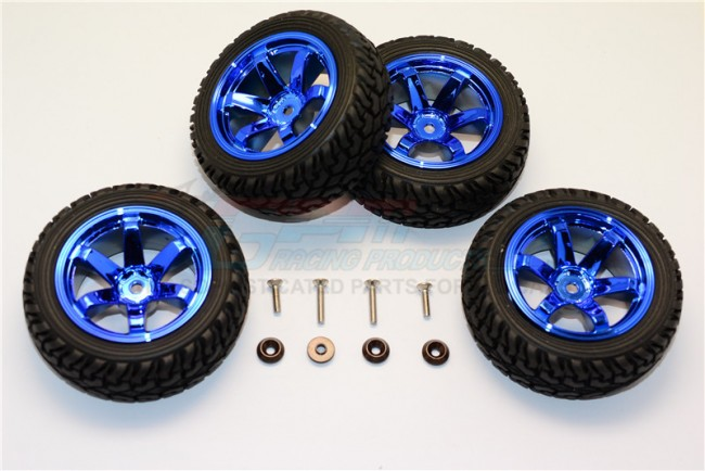 1/18 AXIAL YETI JR AX90052 ALUMINIUM ALLOY 6 POLES WHEELS TIRE – 4PCS SET MYT88906/4