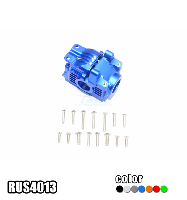 GPM FOR 1/10 TRAXXAS RUSTLER 4X4 VXL 67076-4 ALUMINUM ALLOY REAR GEAR BOX - SET RUS4013