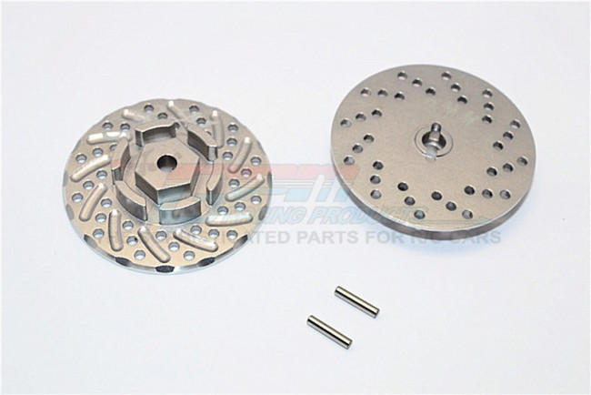 1/10 AXIAL SCX10 II 90046 90047 ALLOY FRONT/REAR WHEEL HEX CLAW +3MM WITH BRAKE DISK-2PCS - SCX2006/DISK