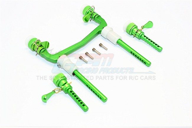 1/10 AXIAL SCX10 II 90046 90047 ALLOY FRONT/REAR BODY POST MOUNT WITH MAGNET POST & CLIPS - 1SET SCX2031FRA