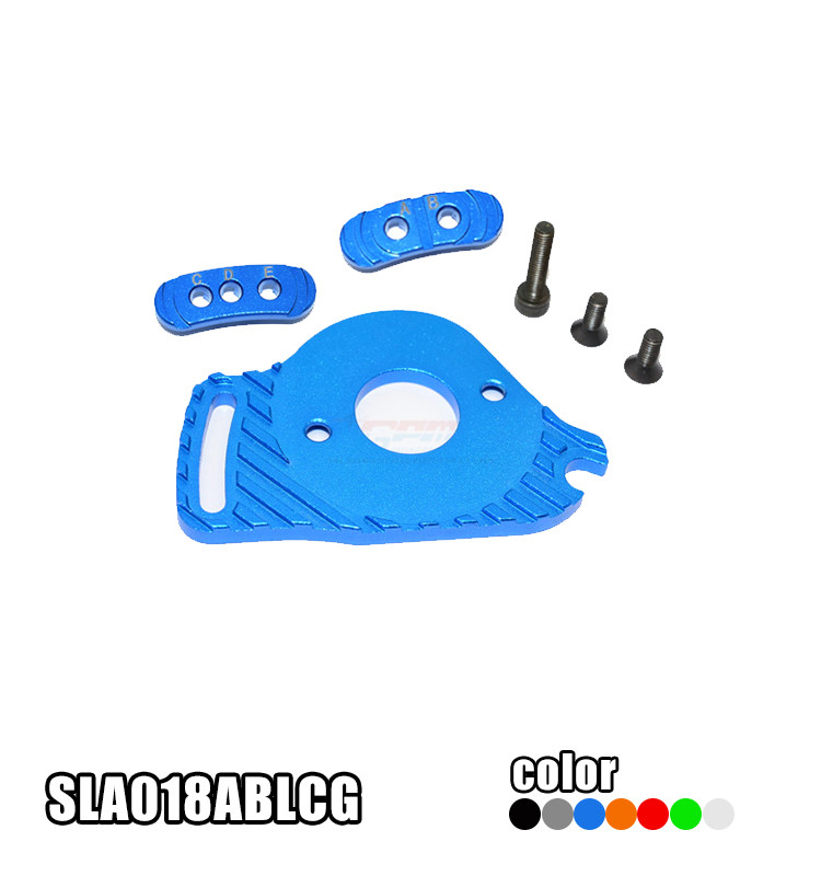 TRAXXAS SLASH 4X4 68086-21 ALUMINUM FIXED GEAR ADAPTER+MOTOR HEATSINK MOUNT SLA018ABLCG