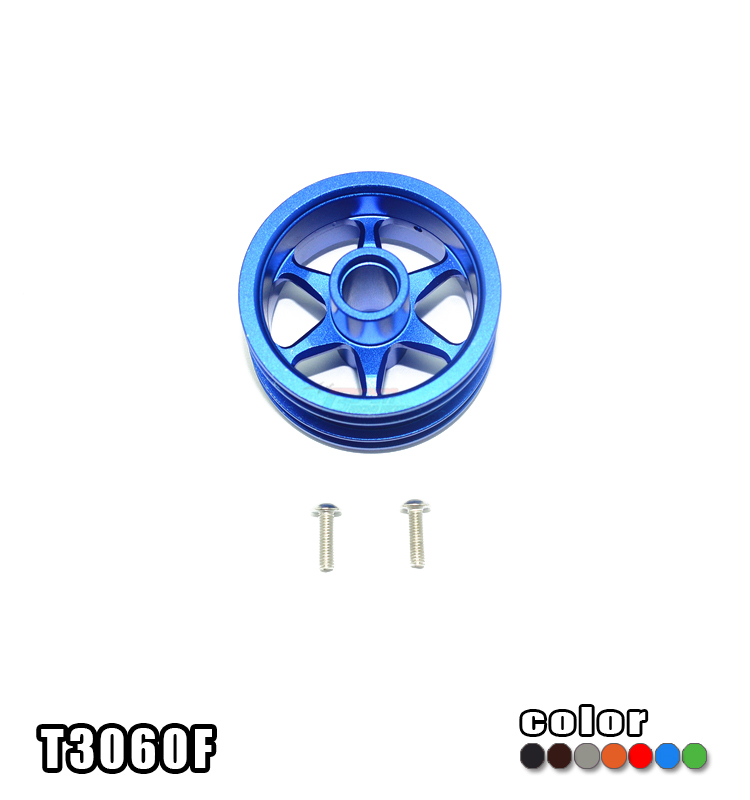 1/8 TAMIYA T3-01 DANCING RIDER 57405 ALLOY FRONT WHEEL (6 POLES DESIGN) -SET T3060F