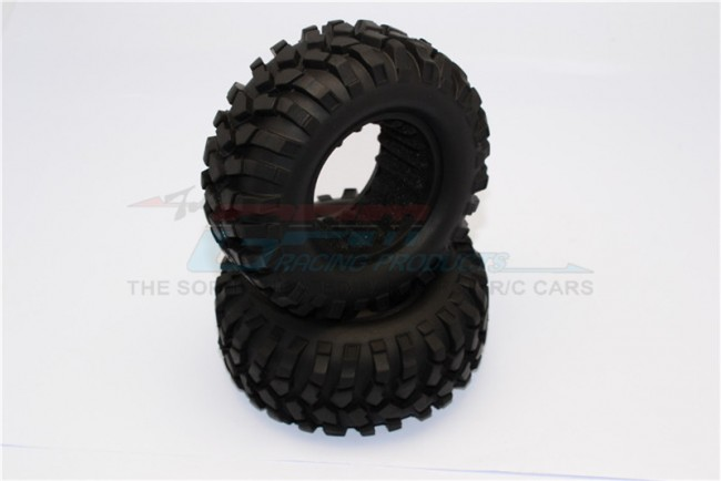1/10 AXIAL SCX10 II 90046 90047 1.9'' RUBBER TIRES WITH FOAM INSERTS (OUTER DIAMETER 108MM, TIRE WIDTH 42MM) - 1PAIR - TIRE1942