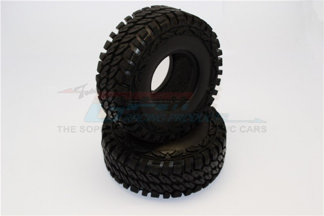 1/10 AXIAL SCX10 II 90046 90047 1.9'' RUBBER TIRES WITH FOAM INSERTS (OUTER DIAMETER 114MM, TIRE WIDTH 44MM) - 1Pair - TIRE1944