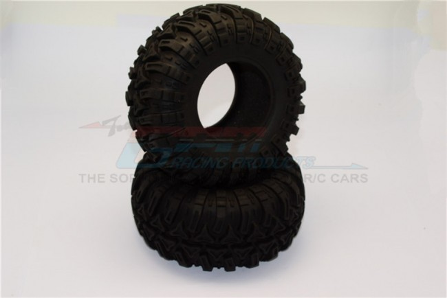 1/10 AXIAL SMT10 2.2'' RUBBER TIRES WITH FOAM INSERTS (OUTER DIAMETER 130MM, TIRE WIDTH 60MM) - 1Pair TIRE2260