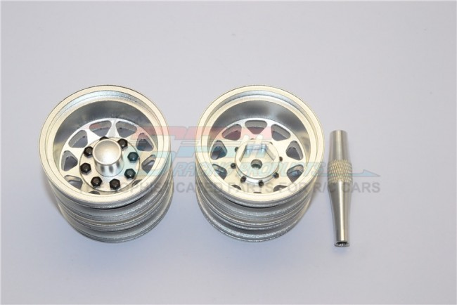 1/14 TAMIYA RC TRUCK ALLOY REAR WHEEL WITH HEX DRIVER - 1PAIR - TRU1006R