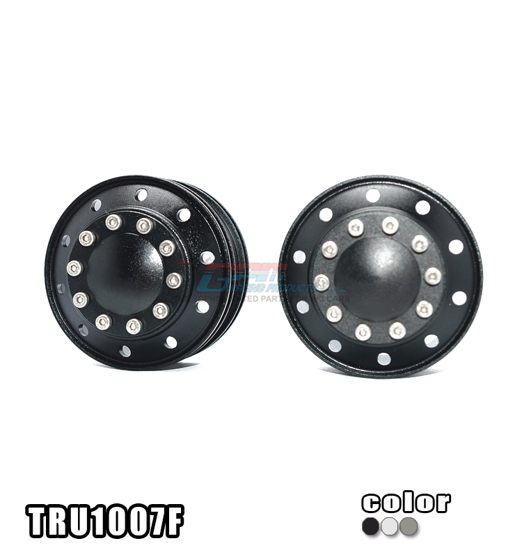 1/14 TAMIYA RC TRUCK ALLOY FRONT WHEEL OF 10 HOLES DESIGN - 2PCS/SET TRU1007F