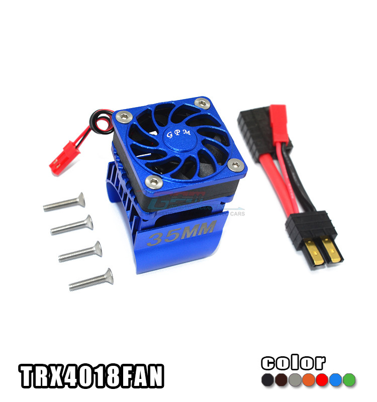 TRAXXAS TRX-4 82056-4 ALLOY 35MM MOTOR HEATSINK WITH COOLING FAN - SET TRX4018FAN