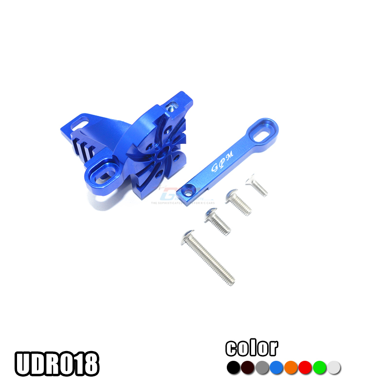 1/7 TRAXXAS UNLIMITED DESERT RACER PRO-SCALE 4X4-85076-4 ALLOY MOTOR MOUNT WITH HEAT SINK FINS-SET UDR018