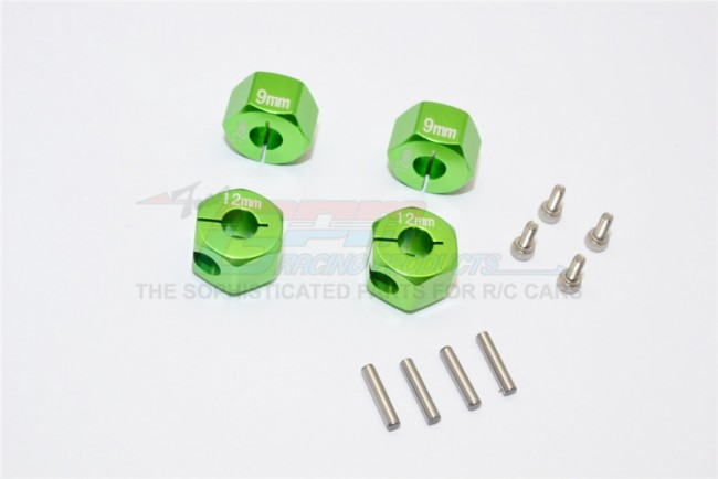 1/10 SCALE TRAXXAS 4WD FORD GT4-TEC 2.0 ALLOY HEX ADAPTERS 9MM THICK-set GT010/12X9MM