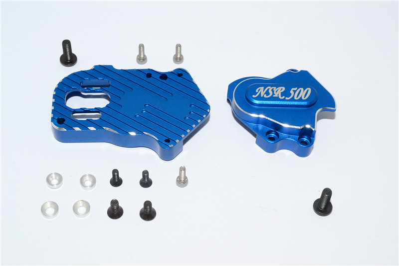 KYOSHO MOTOR CYCLE ALLOY GEAR BOX WITH SCREWS - 1PC SET - KM012