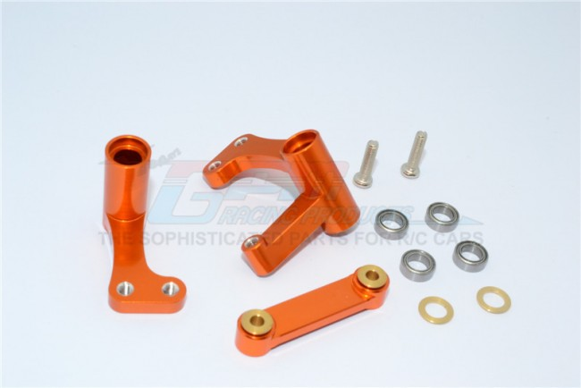 TRAXXAS 1/10 RUSTLER VXL ALLOY STEERING ASSEMBLY WITH BEARINGS - 1SET - RUS048