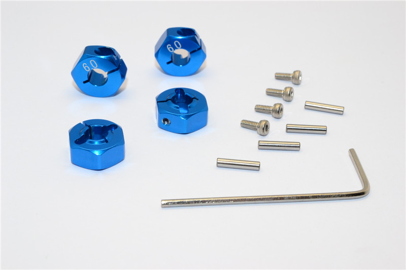 TRAXXAS SLASH ALLOY HEX ADAPTOR (6MM THICK) - 4PCS - SLA010/6MM