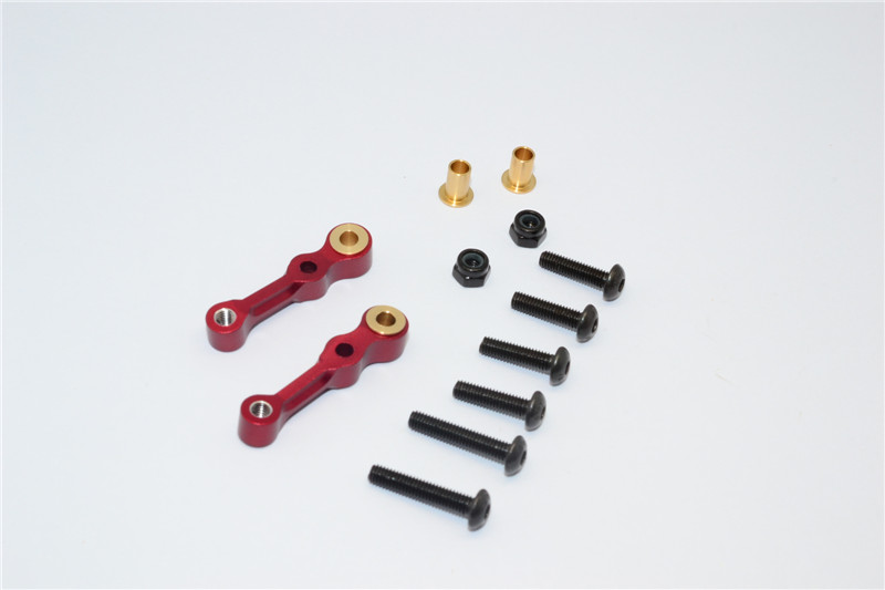 TAMIYA TL01 ALLOY FRONT CAMBER WITH COLLARS & SCREWS- PAIR TL1054