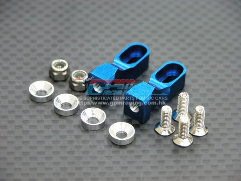 TAMIYA TT01/TT01D/TT01E ALLOY SERVO MOUNT WITH COLLARS+LOCK NUTS+SCREWS - SET TT024